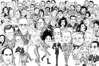 Company Group Caricatures
